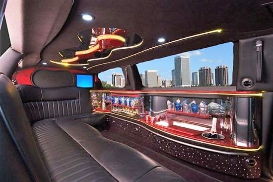 Bel Air Lincoln Limo Interior